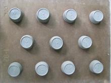 I92 Round bitesize mold with ridged motif