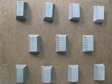 I95 Rectangular bitesize mold with ridged motif