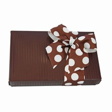 CCP932 1/2lb Cocoa stripes rect. without window