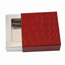 e19176s Sleevebox for 1 chocolate Red Croco and Silver