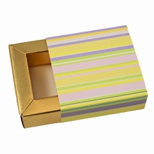 E1rayég Glossy Stripes Sleevebox for 1 Chocolate Gold base