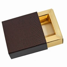 e19147g Espresso and Gold Sleevebox for 1 chocolate
