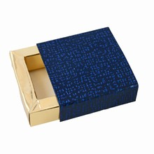 E19509g Perla Midnight Blue and Gold Sleevebox for 1 chocolate