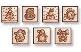 art15730 moule chocolat caraques Noël