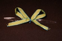 bow128 Mini bows lime and turquoise