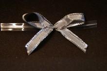 bow128-2 mini boucles argent métallique