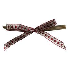 bow133 Boucles motif bordeaux