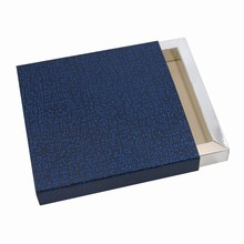 E99509s Midnight Blue Perla Leather Illusion Sleevebox 3 bar or 9 chocolates