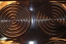dr12 Feuilles texture motif discs concentriques larges