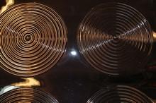 dr13 Feuilles texture motif discs concentriques fines