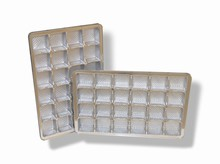 mp24scs Silver 24pc plastic tray