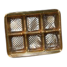 mp1868-1cs Gold 6pc plastic tray