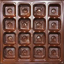 mp2826 Brown 16ct plastic tray