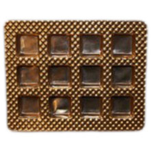 12ctsg Square gold 12ct plastic tray