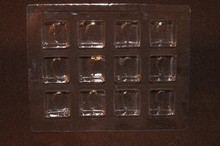 12ctsc Square clear 12ct plastic tray
