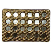 24ctrg Round gold 24ct plastic tray