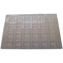 24ctsc Square clear 24ct plastic tray