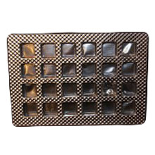 24ctss Square silver 24ct plastic tray