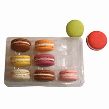 9ctmc Clear plastic tray 9ct macaron cookies