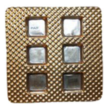 piazf Gold square 6ct plastic tray