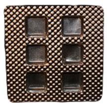 piazj Silver square 6ct plastic tray