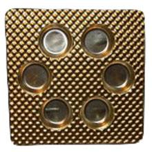 piaza Round gold 6ct plastic tray