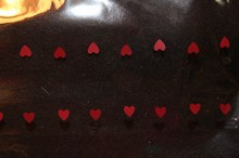 Grand Sachet Valentin petits coeurs rouges 16x20po