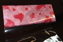 Large Valentine Cello w/Pink Hearts 16x20in