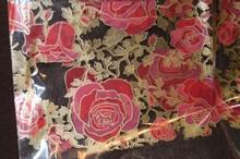 Grand Sachet Valentin motif roses 16x20po