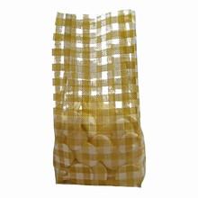 Gold plaid cello bag