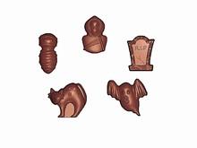 art15660 Halloween assortment chocolate mold