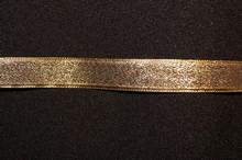 Metallic gold ribbon