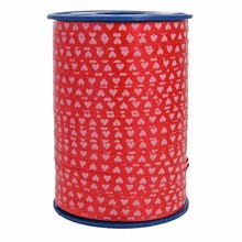 RV103 Ruban bolduc motif coeurs rouges
