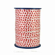 RV104 Ruban bolduc motif coeurs rouges