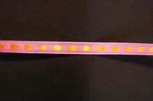 r692 Pink ribbon with orange dots