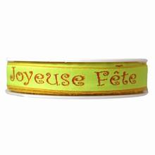 rp38'Joyeuse Fête' ribbon in orange and lime