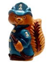 HB493 pvc mold squirrel in firemen suit