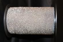 RB131 Bolduc ribbon sparkly silver
