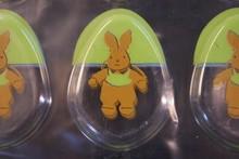Plaque thermoformée Pâques lapins