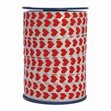 RV105 Bolduc ribbon red heart motif
