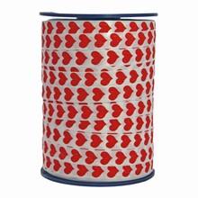 RV105 Ruban bolduc motif coeurs rouges