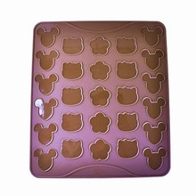 Moule en silicone pour macarons souris, chat, fleur