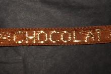 r514 Ruban Marron 'Chocolat' doré