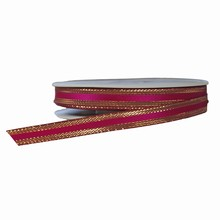 Fuschia ribbon with gold border
