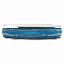 Turquoise ribbon with silver border