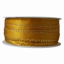 Ruban or antique avec fil or métallique