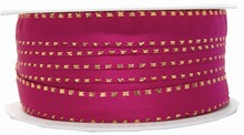 r603 Fuchsia ribbon with metallic gold border