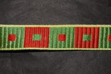 Ruban carreaux rouge et vert