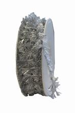 Ruban frangé argent métallique