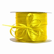 r144 Ruban 'tirette' jaune soleil
